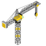 Isolated crane construction isometric back view  Stock Image