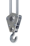 Isolated crane hook 3d render Royalty Free Stock Photo