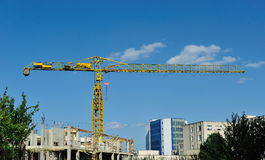Isolated crane on the site Royalty Free Stock Photography