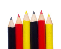 Isolated crayons with german colors Stock Images
