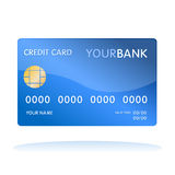Isolated credit card. Illustration of isolated blank credit card, use it as icon for web commerce and on-line shopping Stock Photo