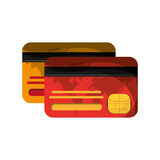 Isolated credit card of money concept. Credit card icon. Money financial item commerce and market theme. Isolated design. Vector illustration Stock Photos