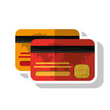 Isolated credit card of money concept. Credit card icon. Money financial item commerce and market theme. Isolated design. Vector illustration Royalty Free Stock Photos