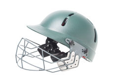 Isolated cricket helmet Royalty Free Stock Photography