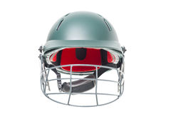 Isolated cricket helmet Royalty Free Stock Photos