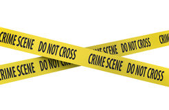 Isolated Crime Scene Tape Royalty Free Stock Photo
