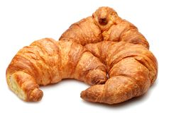 Isolated Croissants Royalty Free Stock Photography