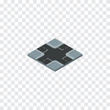 Isolated Crossroad Isometric. Intersection Vector Element Can Be Used For Crossroad, Intersection, Road Design Concept. Royalty Free Stock Images