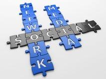 Crossword social media Royalty Free Stock Photography