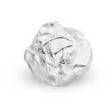 Isolated crumpled paper Stock Photos