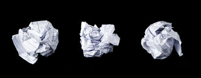 Isolated Crumpled Papers Stock Photos
