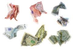 Isolated crushed money Royalty Free Stock Photos