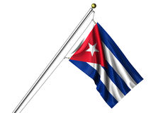 Isolated Cuban Flag Stock Photo