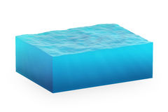 Isolated cube of water Royalty Free Stock Photography