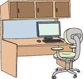 Isolated Cubicle Stock Photo