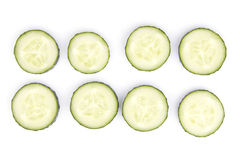 Isolated cucumber Royalty Free Stock Images