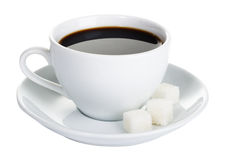Isolated cup of coffee Royalty Free Stock Photos