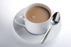 Isolated cup of english tea Royalty Free Stock Image