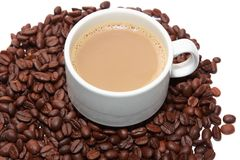Isolated cup of milk coffee Royalty Free Stock Image