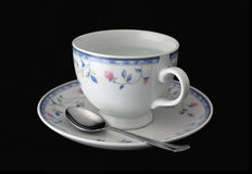 Isolated cup and saucer Royalty Free Stock Image