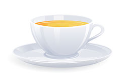 Isolated cup of tea. Royalty Free Stock Photos