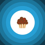 Isolated Cupcake Flat Icon. Muffin Vector Element Can Be Used For Cupcake, Muffin, Dessert Design Concept. Royalty Free Stock Photography