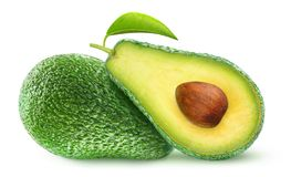 Isolated cut avocados royalty free stock photos
