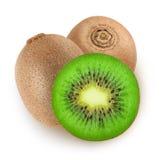 Isolated cut kiwi fruits Stock Photography