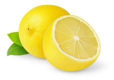 Isolated Cut Lemon Stock Image
