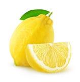 Isolated cut lemon fruit Stock Images