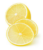 Isolated cut lemon stock photo