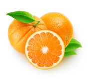 Isolated cut oranges Stock Photography