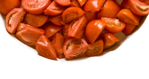 Isolated Cut Tomatoes Stock Photos