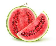 Isolated cut watermelon royalty free stock photo