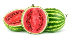Isolated cut watermelons Stock Photos