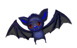 Isolated cute cartoon of a bat flying Stock Photo