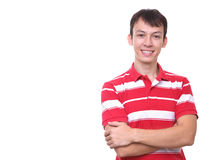 Isolated cute young man smiling Royalty Free Stock Photo