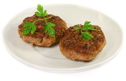 Isolated cutlet Stock Photo