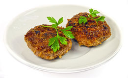 Isolated cutlet Stock Image