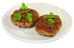 Isolated cutlet Stock Photos