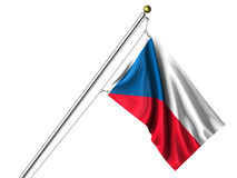 Isolated Czech Flag Royalty Free Stock Photo