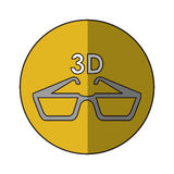 Isolated 3d glasses design. 3d glasses icon. Cinema movie video film and media theme. Isolated design. Vector illustration Royalty Free Stock Images