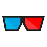 Isolated 3d glasses. On a white background, Vector illustration Royalty Free Stock Photography