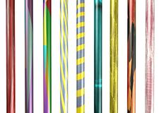 3D patterned poles /posts. Isolated 3D patterned posts / poles Stock Photos