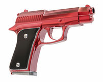 Isolated 3D Pistol Illustration Royalty Free Stock Images
