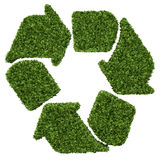 Isolated 3d render natural leaf recycling symbol with white.  Stock Image
