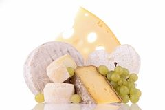 Isolated dairy products Royalty Free Stock Photo