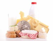 Isolated dairy products Stock Image
