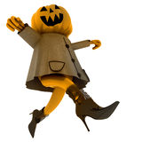 Isolated dancing halloween pumpkin Stock Image
