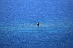 Isolated danger on sea Stock Photography